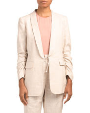 Tailored Linen Suit Jacket