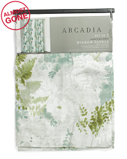 50x84 Set Of 2 Larissa Spaced Floral Curtains