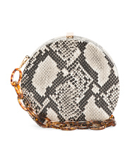 Python Print Round Bag With Link Strap