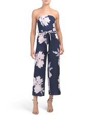 Juniors Australian Designed Floral Strapless Jumpsuit