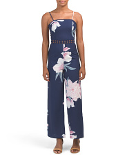 Juniors Australian Designed Floral Wide Leg Jumpsuit