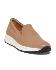 Slip On Leather Sneakers