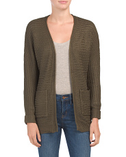 Juniors Dolman Sleeve Open Cardigan