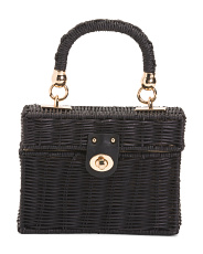 Kona Handmade Wicker Box Bag