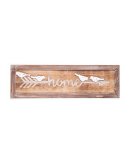 Home Arrow Wood Sign