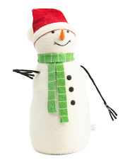 16in Plush Snowman With Scarf And Hat