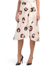 Marson Abstract Animal Midi Skirt