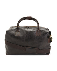 Made In Italy Leather Duffel