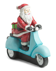 24in Santa Driving With Gift