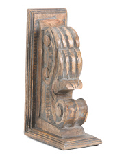 Handcrafted In India Wood Bookend