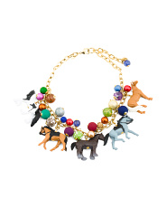 Handmade In Usa Gold Plated Horse Bauble Necklace