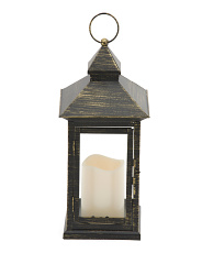 13in Metal Led Lantern