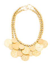 2 Row 24k Gold Plated Coin Necklace