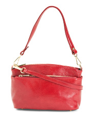 Made In Italy Triple Entry Leather Crossbody