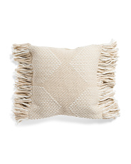 Made In India 20x20 Textured Woven Pillow