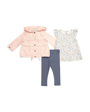 Infant Girls 3pc Scalloped Jacket Set
