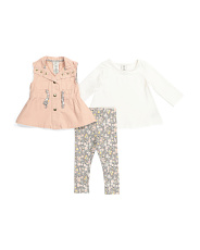 Infant Girls 3pc Spring Vest Set