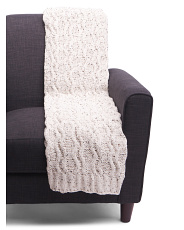 Speckled Cable Knit Throw