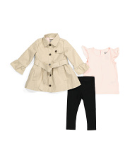 Infant Girls 3pc Flutter Tunic Set