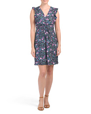 Silk Ruby Floral Dress