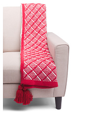Kate Knit Holiday Throw