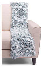 Shepard Chunky Knit Marled Throw