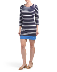 Coastline Striped Knit Dress