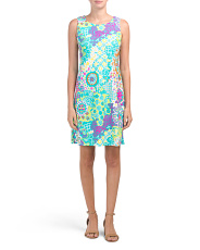 Made In Usa Beth Printed Dress
