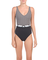 Modern Belted Mio One-piece Swimsuit