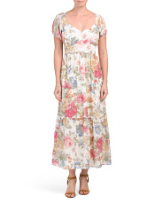 Tanya Ruffle Hem Floral Dress