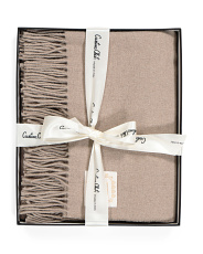 Made In Italy Boxed Cashmere Throw