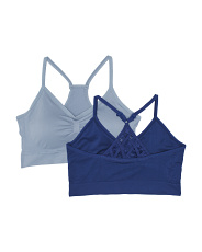 Plus 2pk April Lace Racer Back Comfort Bras