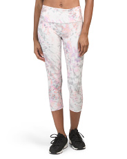 Tie Dye High Waist Capri Leggings