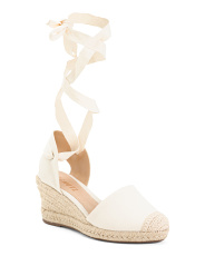 Made In Brazil Ankle Wrap Espadrille Wedges