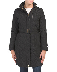 Zip Front Quilted Coat