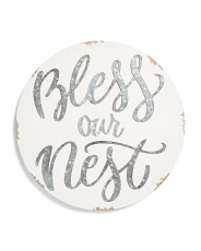 15in Bless Our Nest Wall Sign