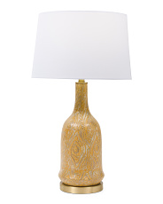 Wood Grain Table Lamp