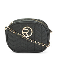 Quilted Oval Crossbody
