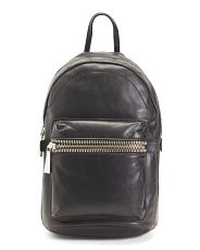Leather Lena Zip Backpack