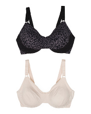 2pk Full Figure Luxury Lift Bras