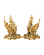 Set Of 2 Angel Wing Bookends