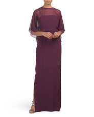 Silk Crepe Gown