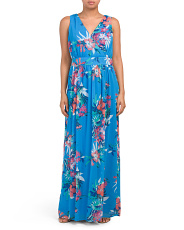 Lagoon Floral Printed Maxi Dress