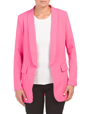 Juniors Neon Suit Blazer