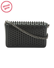 Made In Italy Studded Leather Zoompouch