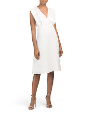 Deep V Easy Linen Dress