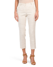 Linen Blend Tailored Trousers