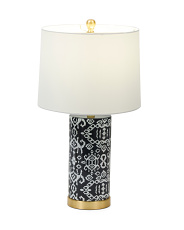 23in Patterned Ceramic Table Lamp