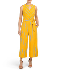 Striped Stretch Crepe Jumpsuit