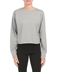 Rolene Crew Neck Cropped Sweatshirt